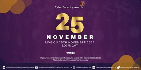Cyber Security Awards 2021 tickets