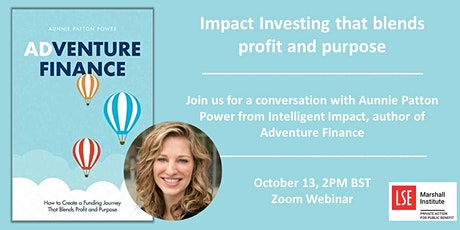 Adventure Finance - investing that blends  profit and purpose tickets