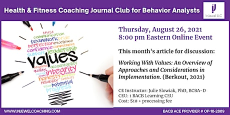 Health & Fitness Coaching Journal Club for Behavior Analysts (August 2021) Tickets