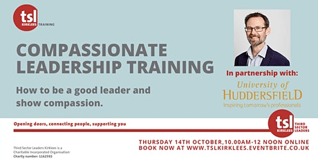 Being a Compassionate Leader: why it matters and how to achieve it tickets