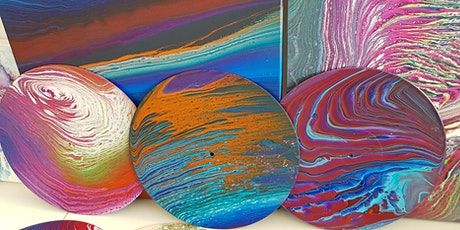 Fluid Art Experience - Galaxy 'Ring Pour' (Paint and Sip) tickets