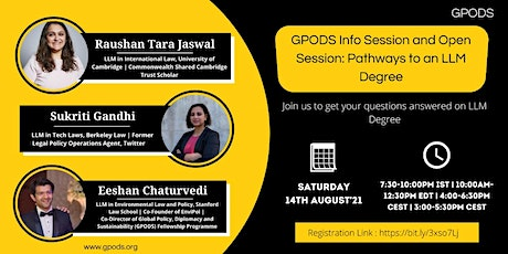 GPODS Info Session and Open Session: Pathways to an LLM Degree tickets