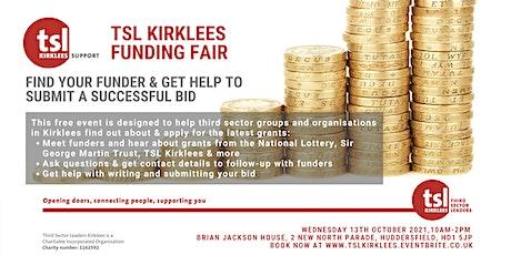TSL Kirklees Funding Fair: Find your funder tickets