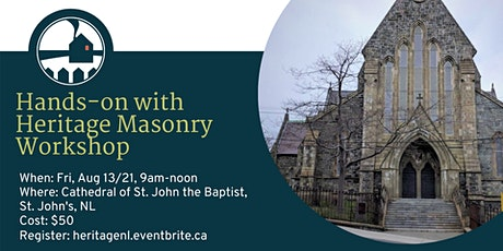 Hands-on with Heritage Masonry Workshop tickets