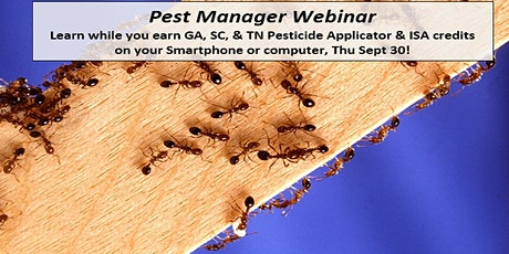 Pest Manager Webinar: Fire Ant Control & Protect Pollinators tickets