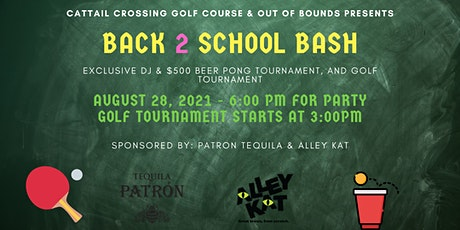 Back to school bash at the Cattail Crossing Golf & Winter club tickets