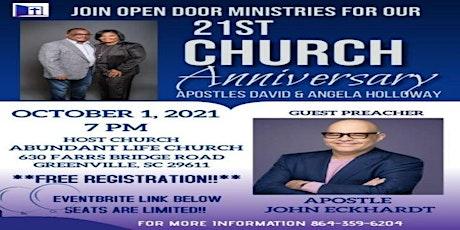 Open Door Ministries 21st Church Anniversary tickets