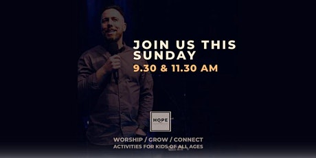 Hope Sunday Service    Sunday 8th August    11.30 am tickets
