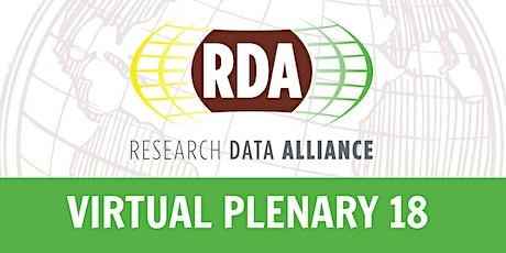 RDA 18th Plenary Meeting (Virtual) - Research Data Alliance VP18 tickets