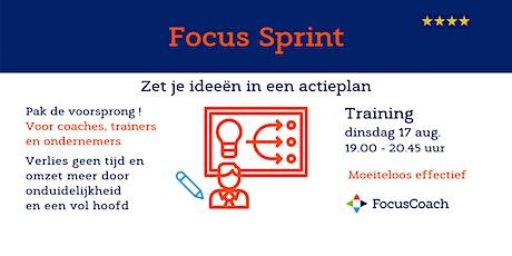 Focus Sprint - Moeiteloos effectief met je zakelijke actieplan tickets