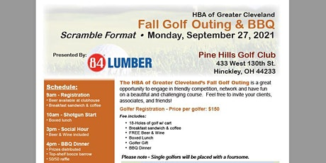 HBA of Greater Cleveland's Fall Golf Outing & BBQ tickets