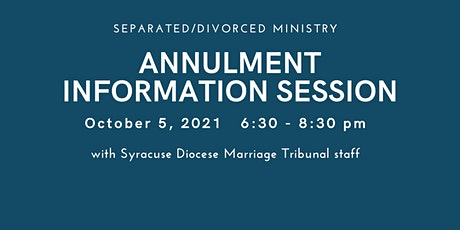 Annulment Information Session tickets