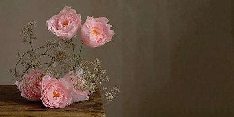 Peony Bouquet Workshop with paper florist  Karen Hsu, Pom Pom Factory tickets
