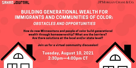 Building Generational Wealth for Immigrants and Communities of Color tickets