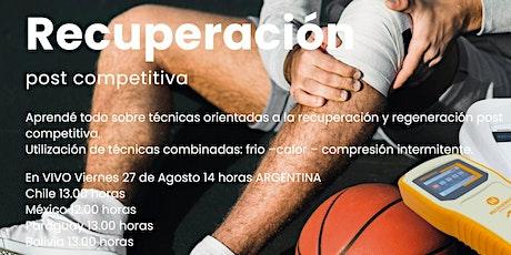 Métodos de Recuperación post competitiva. boletos