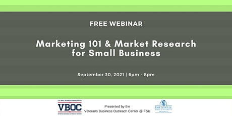 Marketing 101 & Market Research for Small Business tickets