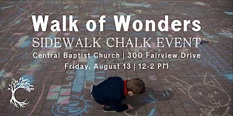 'Walk of Wonders' Sidewalk Chalk Event tickets
