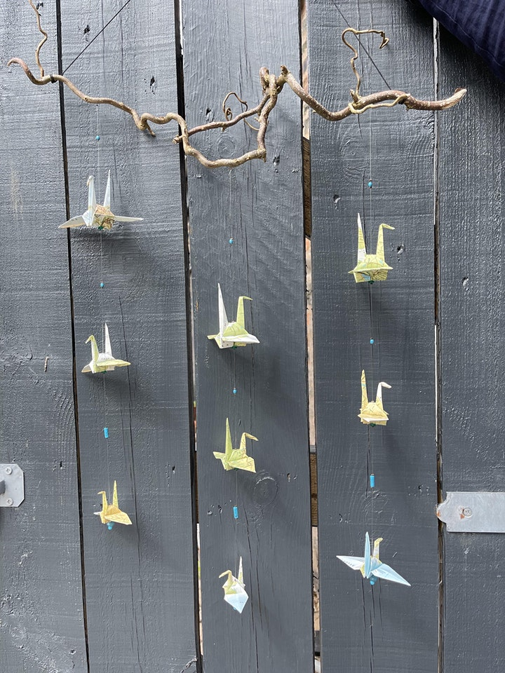 Origami Paper Crane Hanging Mobiles image