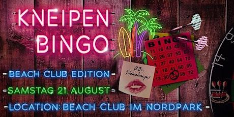 Das Bilker Häzz Kneipenbingo ist zurück - im Beachclub im Nordpark! Tickets