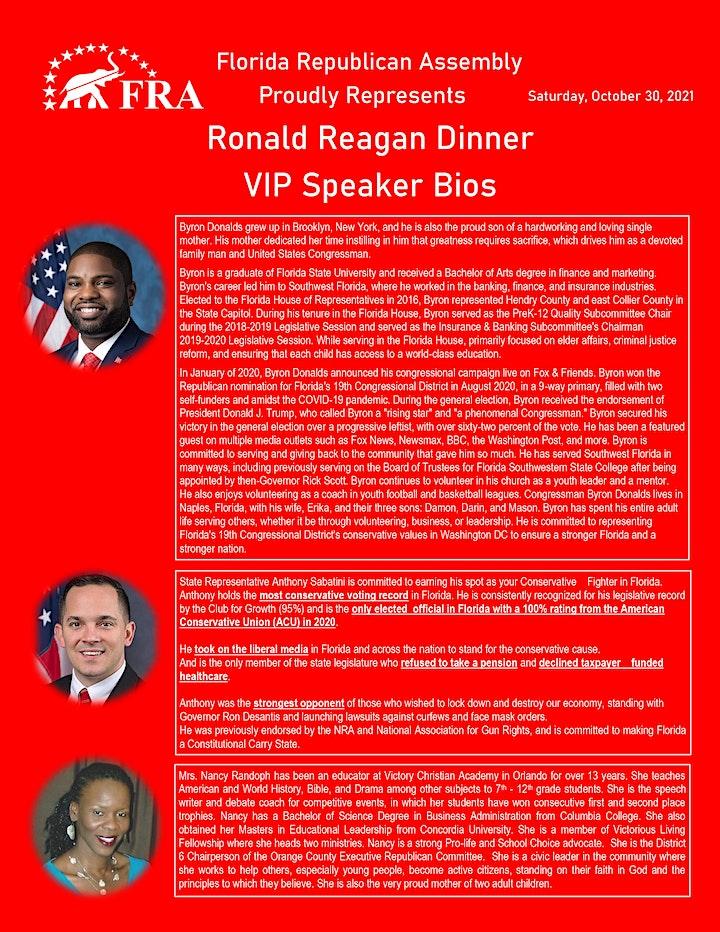 Ronald Reagan Dinner Daytona Beach image
