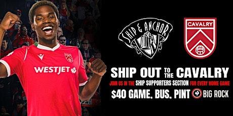 SHIP OUT - CAVALRY vs EDMONTON tickets