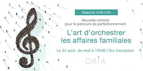 Séance d'informations | Parcours de perfectionnement ORIA billets