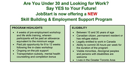 Jobstart - Youth Possibilities Project Information Session tickets