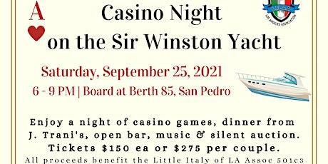 Casino Night on the Sir Winston Yacht Fundraiser tickets