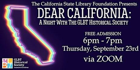 Dear California: A Night with the GLBT Historical Society tickets