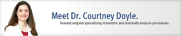 9/15/2021 Weight Loss Surgery WEBINAR with Dr. Courtney Doyle image