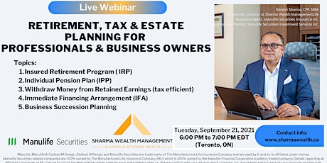 Retirement, Tax, Estate Planning for Business Owners in Canada tickets