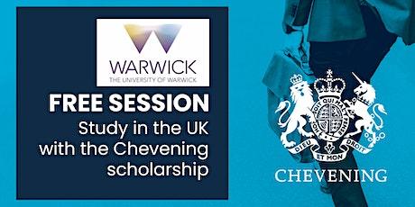 Estudia tu maestría con la beca Chevening en la Universidad de Warwick entradas