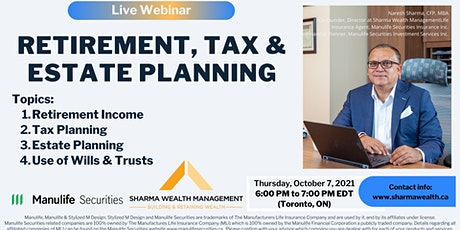 Retirement, Tax & Estate Planning in Canada tickets