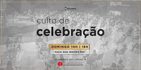 Culto de Celebração 18 horas - Domingo 08/08/21 ingressos