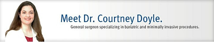 10/27/2021 Weight Loss Surgery WEBINAR with Dr. Courtney Doyle image