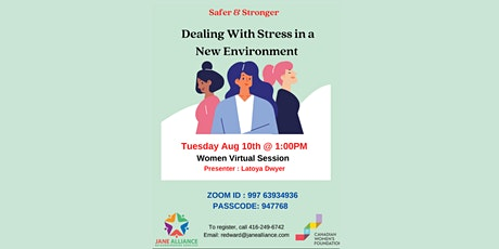Women's Program: Dealing With Stress In A Environment tickets