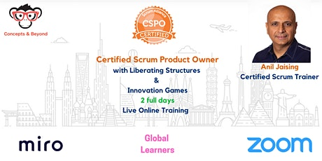 Certified Scrum Product Owner with Innovation Games tickets