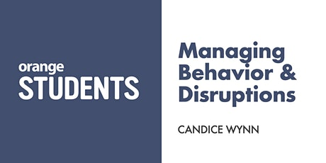 Let's Talk About Managing Behavior & Disruptions tickets