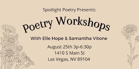 Spotlight Poetry Presents: August's Poetry Workshops tickets