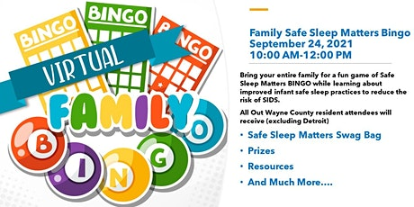 Family Safe Sleep Matters Bingo tickets