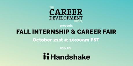 Fall Internship & Career Fair tickets
