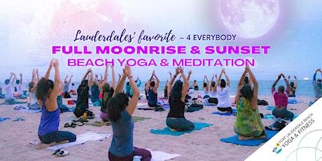 Full Moon Rise / Sunset Beach Yoga & Meditation tickets