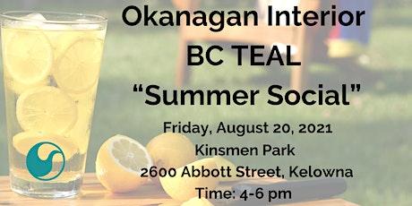 Okanagan Interior BC TEAL Summer Social tickets