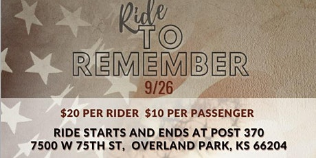 Ride 2 Remember 2021 tickets