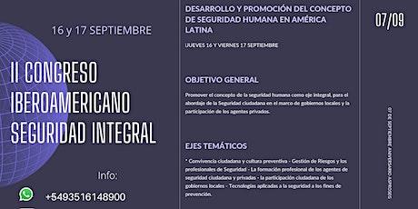 II CONGRESO IBEROAMERICANO SEGURIDAD INTEGRAL entradas