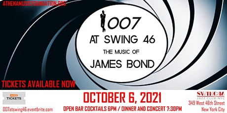 007 AT SWING 46 - THE MUSIC OF JAMES BOND tickets