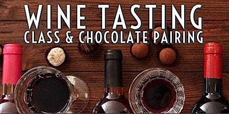 Wine Tasting Class & Chocolate Pairing tickets
