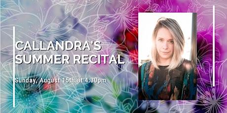Callandra's Summer Recital tickets