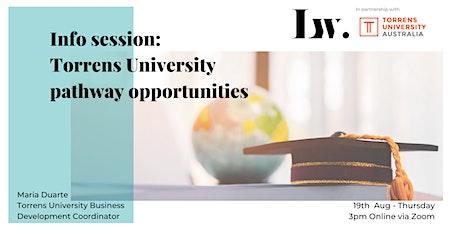 Torrens University & Laneway pathway opportunities tickets
