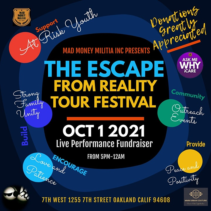 """""""The Escape From Reality Tour"""" Fundraiser Festival image"""